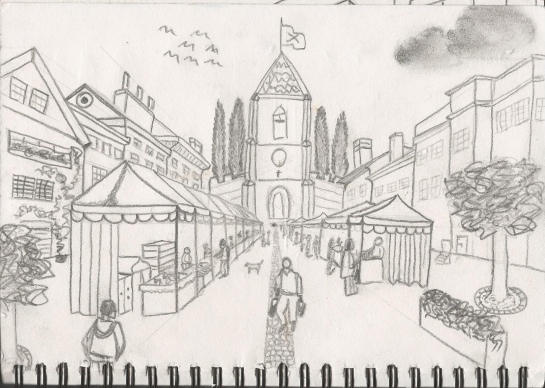 Drawing 1_Town scape_Morges