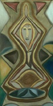 2001 Coll. naïve - Zenitude huile sur toile 50x80