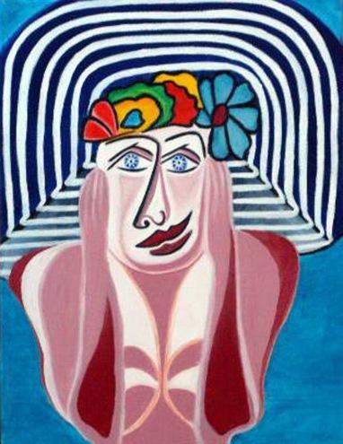 2002  Coll. Féminine - Rêveuse huile sur toile 30x40