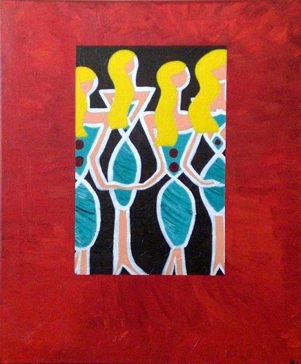 2003  Coll. Féminine - Les Blondes  aryl sur toile 40x50
