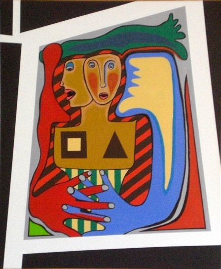 2004 Coll. Portraits - The lovers Acryl sur toile 40x50