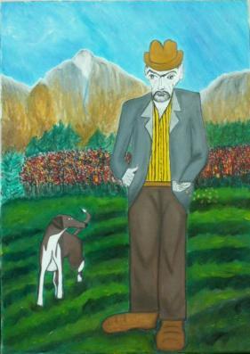 2005 Coll. naïve - Le semeur huile sur toile 50x70