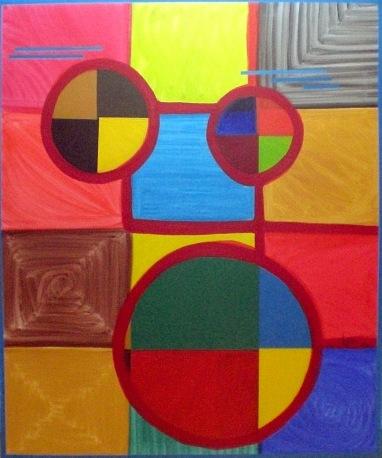 2006 Coll. Abstrait - le clown huile acryl sur toile 120x100