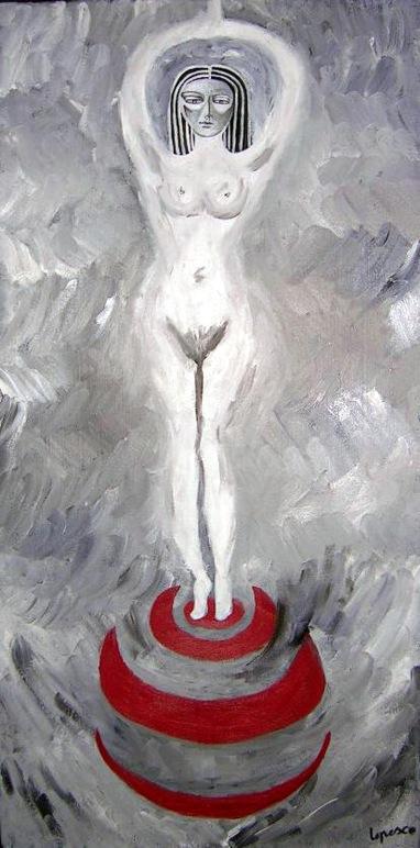 2006  Coll. Féminine - Le Trophée huile sur toile 40x80