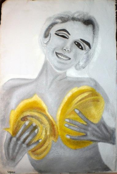 2006  Coll. Portraits - Marilyn huile sur papier 50x70