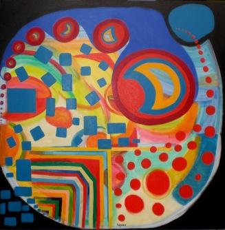 2007 Coll. Abstrait - Alzheimer huile acryl sur toile 100x100