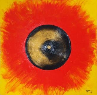 2007 Coll. Abstrait - Earth  Acryl sur Bois 100x100