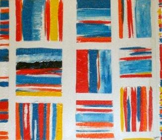 2007 Coll. Abstrait - Sans titre sur bois Acryl  77x 89