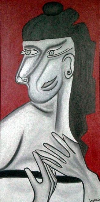 2007  Coll. Féminine - Diva huile sur toile 40x80