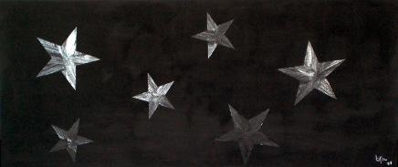 2008 Coll. Abstrait - Black Xmas Acryl 160x60