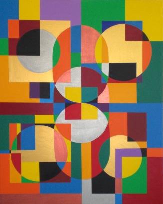 2008 Coll. Abstrait - Kaleidoscope sur toile - 80x100