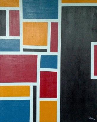 2009 Coll. Abstrait - Cadre Acryl sur toile 80 x 100