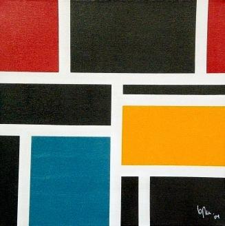 2009 Coll. Abstrait - Carré Une Acryl sur toile 50x50x8