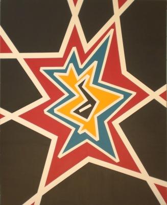 2009 Coll. Abstrait - Etoile Acryl sur toile 80 x 100