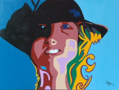 2009 Coll. Portraits - Democrates'wife - acryl sur toile 60x80