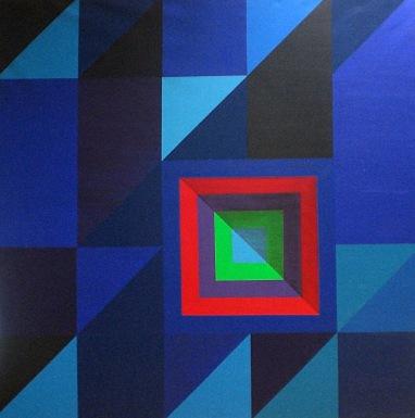 2010 Coll. Abstrait - Bleuïde acryl 100x100