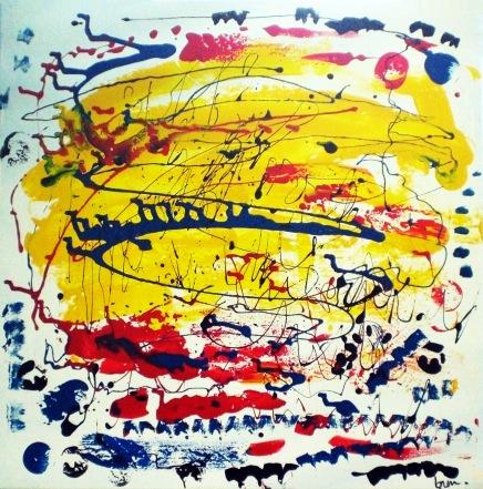 2010 - coll abstrait - Couronne de la Reine - 60x60 acryl