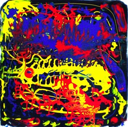2010 - coll abstrait - Couronne du roi - 50x50 acryl