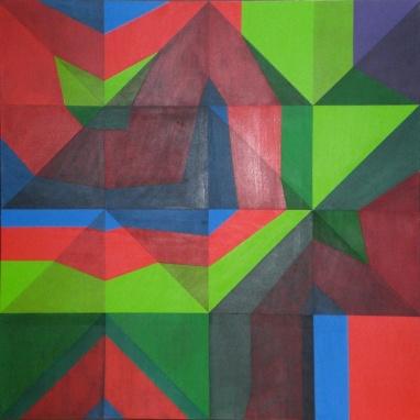2010 Coll. Abstrait - Vertigone Acryl 100x100