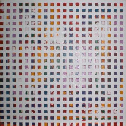 2011  - coll abstrait - Aleatoire - 60x60 acryl