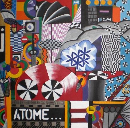2011  - coll abstrait - Atome - 60x60 acryl sur carton